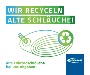 Fahrradschlauch Recycling im E-Bike Cafe